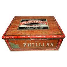 Vintage Bayuk Philadelphia Phillies Perfecto 5 Cent Cigar Tin