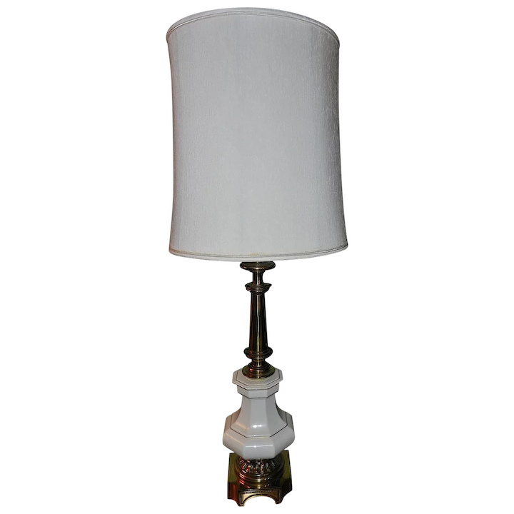 Vintage Stiffel Lamps >> Vintage Stiffel Lamps Porcelain And Brass
