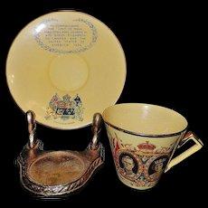 Vintage Royal Winton Grimwades Commemorative Cup and Saucer