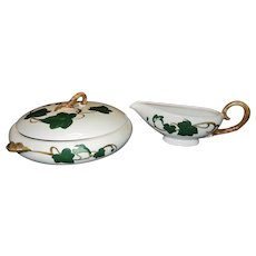 Vintage California Ivy Casserole Dish and Gravy Boat by  Metlox Poppytrail