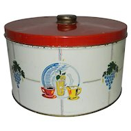 Vintage Tin Canister or Cake Saver with Knob