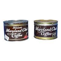 Vintage One Pound Duncan Maryland Club Key Wind Coffee Tin