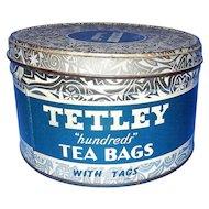 Vintage Round 100 Bag Tetley Tea Tin