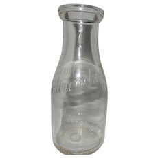 Vintage Adirondak Pint Milk Bottle