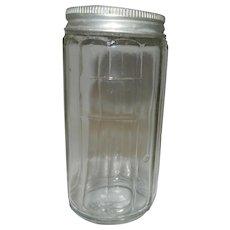 Vintage Hoosier  Cabinet Glass Spice Jar