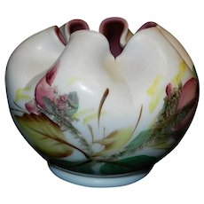 Vintage Hand Painted Cased Rose Bowl