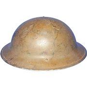Vintage Canadian Lamp Co  Steel Helmet 1942 Model