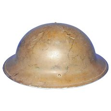 Vintage Canadian Lamp Co  Steel Helmet 1942 Model