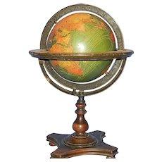 Vintage Kittinger Company 8-Inch Terrestrial Table Globe Buffalo, New York: c. 1927-30