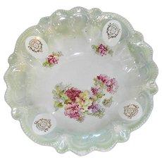 Vintage Hand Painted Porcelain Serving Bowl