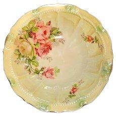 Vintage Hand Painted Porcelain Serving Bowl -Germany