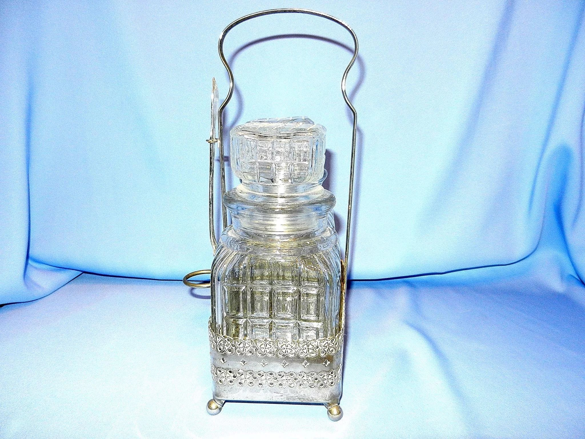 Vintage Double Silver Plated Pickle Castor Set With Silver