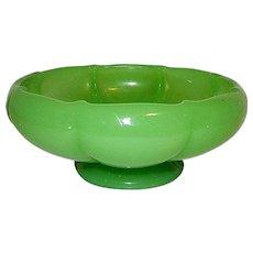 Vintage Fenton Jadeite Melon Art Glass Bowl