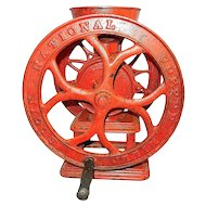 Antique Home Model Cast Iron Coffee Grinder or Mill -Elgin Wheel