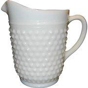 Vintage Anchor Hocking Milk Glass 65 oz Hobnail Pitcher