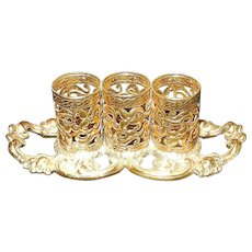 Vintage Stylebuilt Ormolu and Gold Tone Lipstick Holder