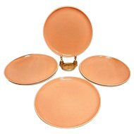 "Vintage Russel Wright Coral Pink American Modern 10"" Plates"