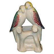 Vintage 1940's Morton Potteries Parakeet Planter