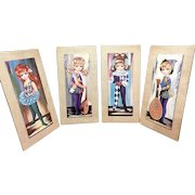 Vintage Eden Big Eyed Moppet Lithograph Wall Hangings