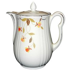Vintage Hall's Superior Autumn Leaf Jewel Tea Coffee Pot