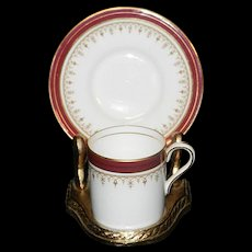 Vintage Aynsley Durham Demitasse Cup and Saucer Bone China
