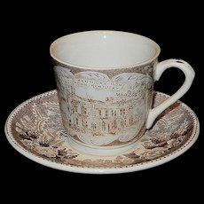 Vintage Jonroth Old Kentucky Home and Stephen Collins Foster Demitasse Cup and Saucer