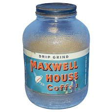 Vintage Maxwell House Coffee Jar with Original Label