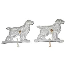 Vintage Cast Aluminum Cocker Spaniel Gate Toppers