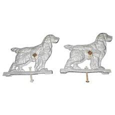 Vintage Cast Aluminum Cocker Spaniel Gate Toppers
