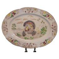 Vintage Transferware Large Turkey Platter