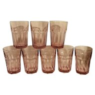 Vintage Libbey Gibraltar Pink Water or Ice Tea Tumbler