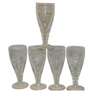 Vintage Stuart Signed Wine or Champagne Glass with Stars STU90 pattern