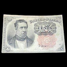 Fifth Issue 1874 Ten Cents Currency Note