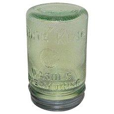 Vintage 1930's White King Laundry Wash Soap Detergent Dispenser Jar