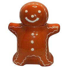 Vintage Hartstone Gingerbread Man Cookie Jar