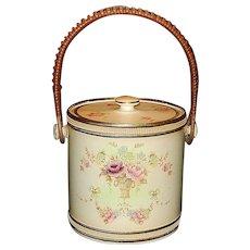 Antique Crown Devon Fielding Stoke on Trent England Windsor Pattern Biscuit Jar