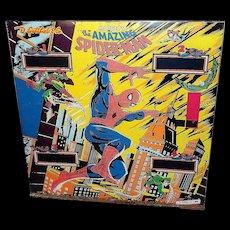 Amazing Spider-Man Pinball Machine Backglass -Gottlieb, D. & Co., 1980
