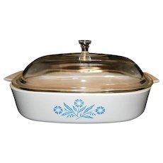 Vintage Corning Ware Blue Cornflower Casserole Dish
