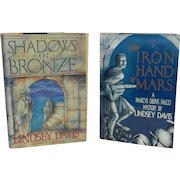 Vintage Falco Series Books by Lindsey Davis: Shadows in Bronze and The Iron Hand of Mars