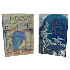 Vintage Falco Series by Lindsey Davis: Shadows in Bronze and The Iron Hand of Mars