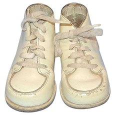 Vintage Pair of Baby or Doll Shoes with Leather Soles
