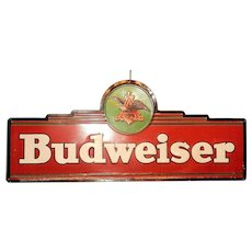 Vintage Large Budweiser Tin Sign