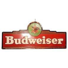 Vintage Large Budweiser Tin Sign
