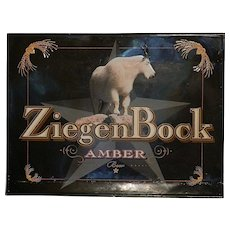 Vintage ZiegenBock Amber Tin  Advertising Sign