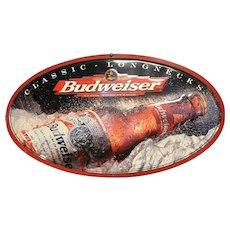 Vintage Budweiser Longnecks Tin Advertising Sign