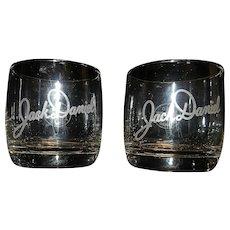 Vintage 1979 Jack Daniel Signature Old No. 7 Rock Glasses