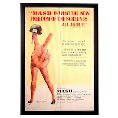 Vintage 1970 Original Mash Movie Poster