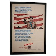 Vintage 1970 Patton Original Movie Poster