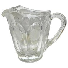 Vintage Fostoria 32 oz Coin Glass Pitcher