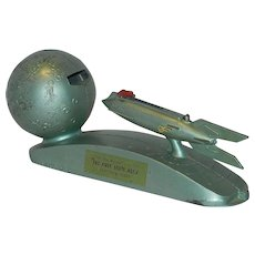 Vintage 1950's Strato Rocket Mechanical Bank